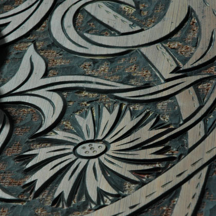 Designing, cutting and creating the Wallpapers, Hugh Dunford Wood